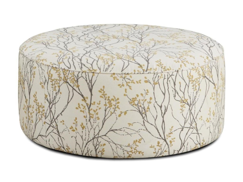 Fusion Furniture Boho BirchMyla Marigold Cocktail Ottoman