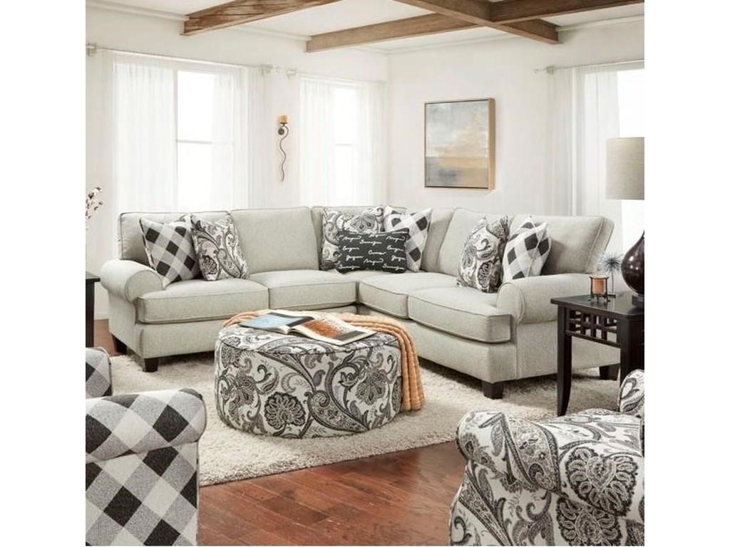 Fusion Furniture 4200Sectional