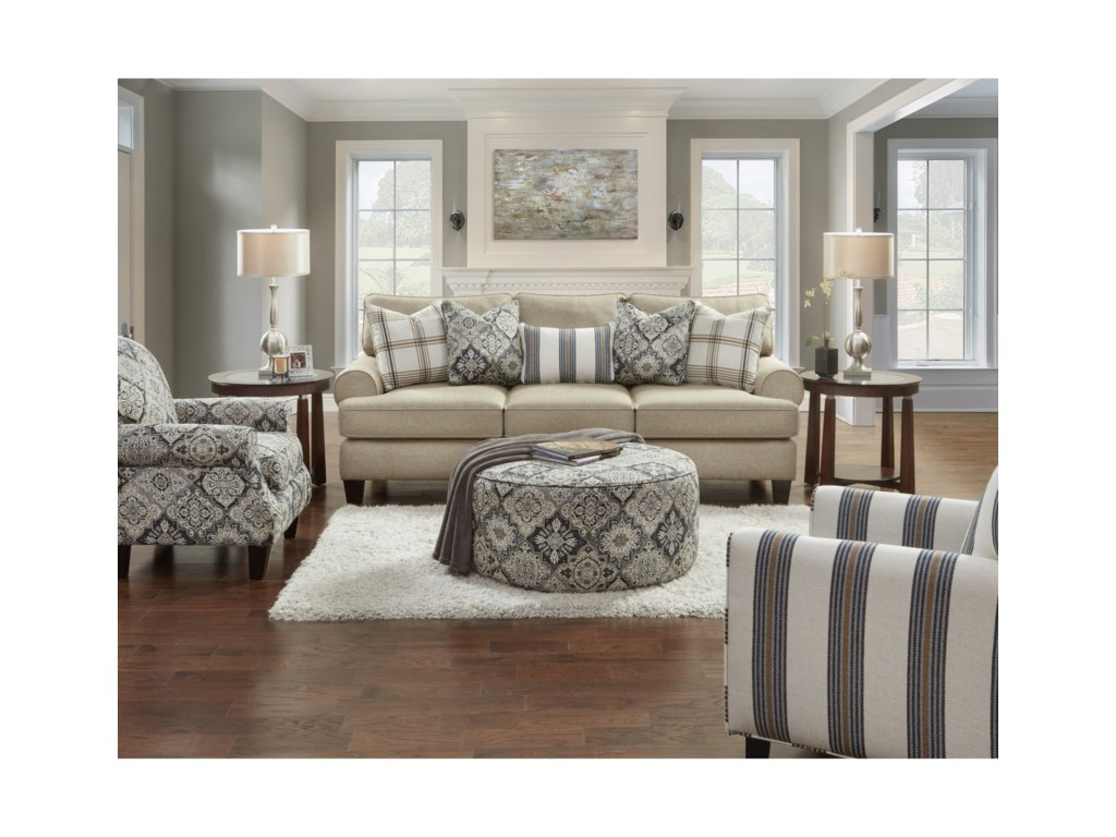 Fusion Furniture 4200Stationary Living Room Group