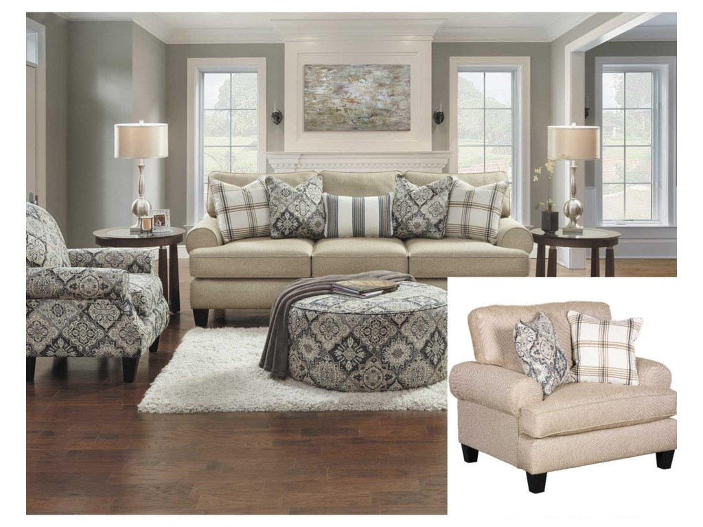 Fusion Furniture 42003 Pc Living Room Group