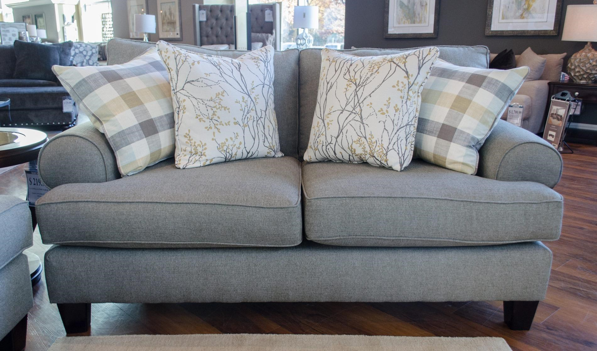 Superbe Fusion Furniture 4200Boho Birch Loveseat ...