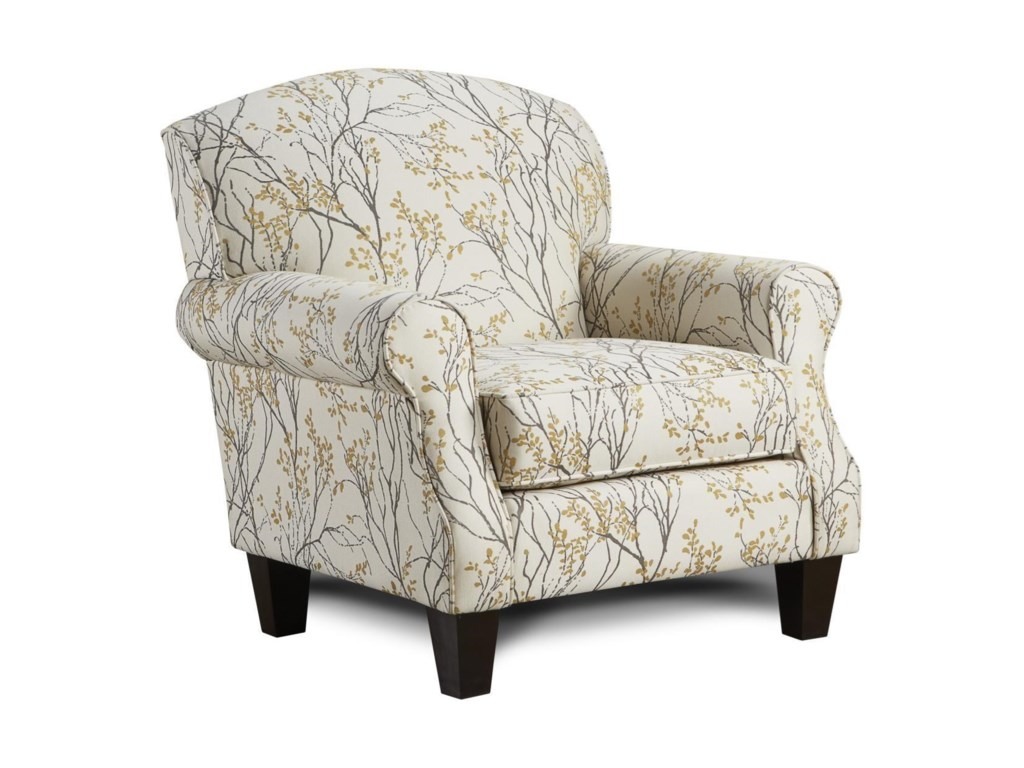 Fusion Furniture 4200Myla Marigold Accent Chair