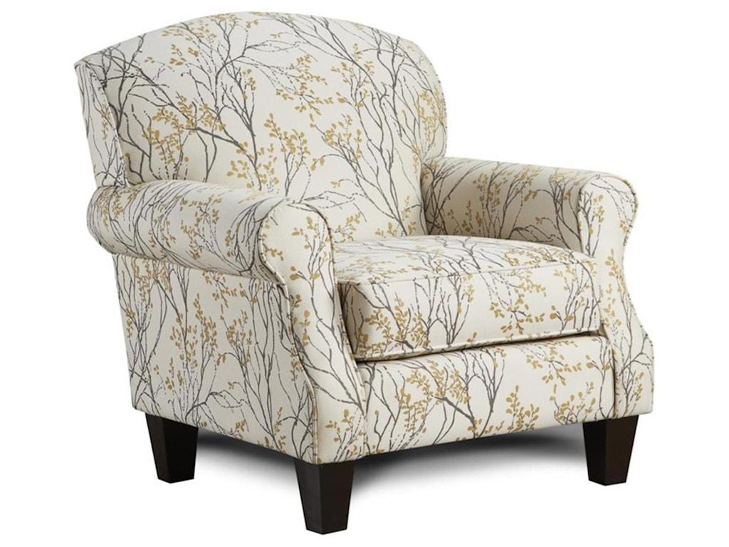 Fusion Furniture Boho BirchMyla Marigold Accent Chair