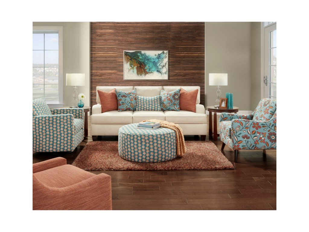 Fusion Furniture 4250Stationary Living Room Group