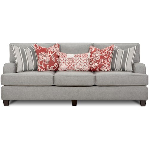 Fusion Furniture 4250 Contemporary Sofa with Kidney Pillow