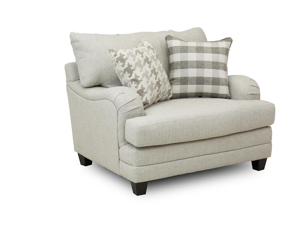 Fusion Furniture Brock BerberChair and a Half