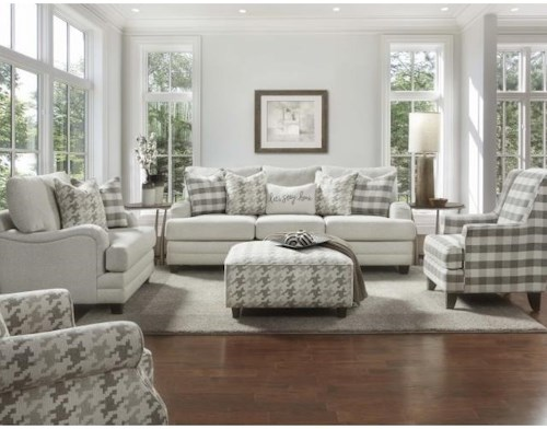 Fusion Furniture 4480-KP Stationary Living Room Group