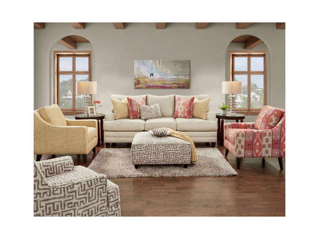 Fusion Furniture 4480-KPStationary Living Room Group
