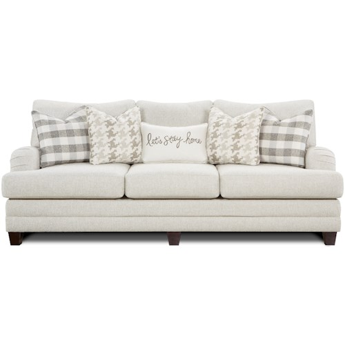 Fusion Furniture 4480-KP Transitional Sofa with Setback Arms