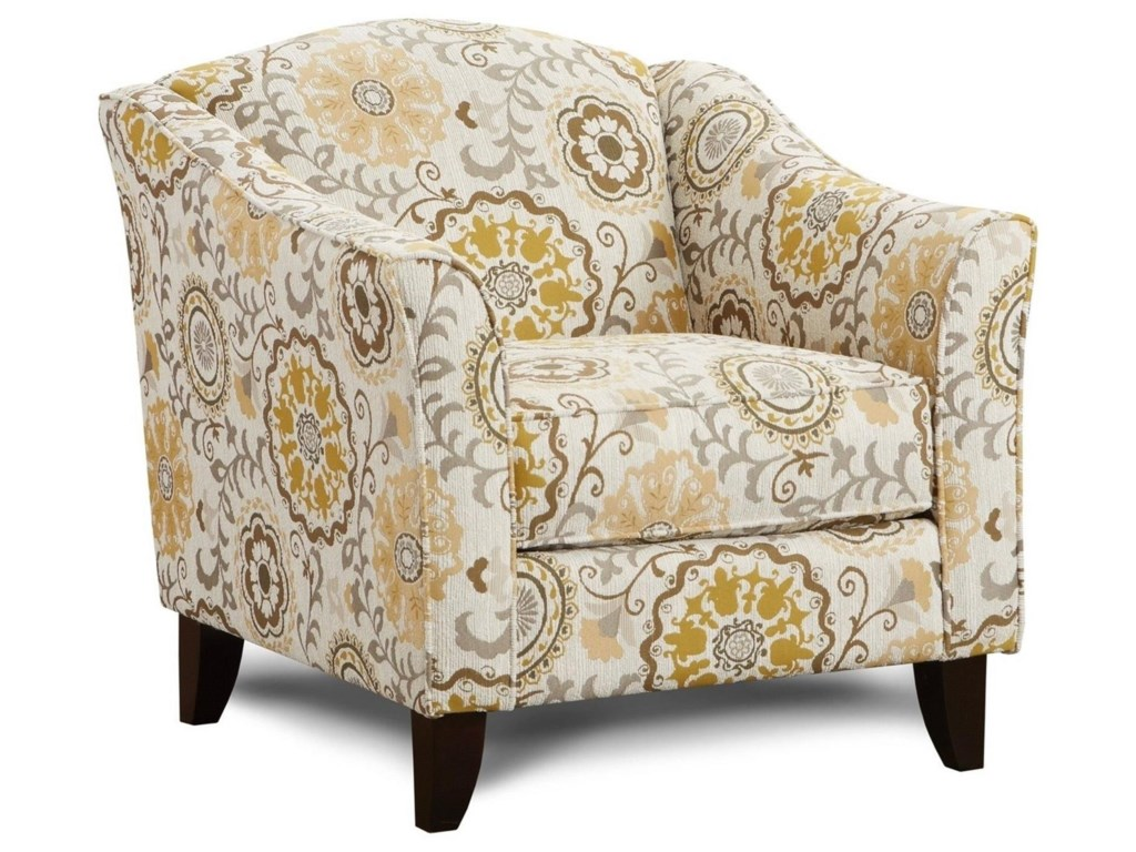 Fusion Furniture 452Alpenrose Daisy Accent Chair