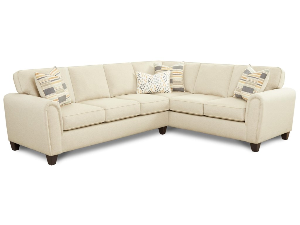 Fusion Furniture 49-002-Piece L-Shape Sectional