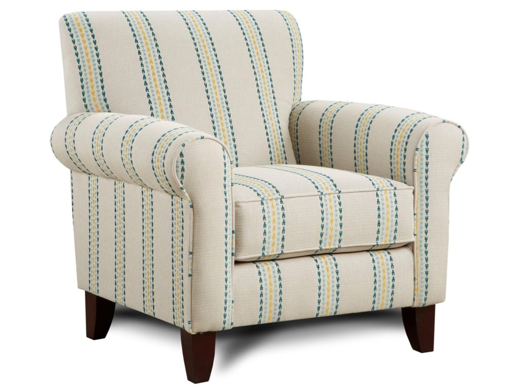 502 print fabric accent chair by fusion furniture