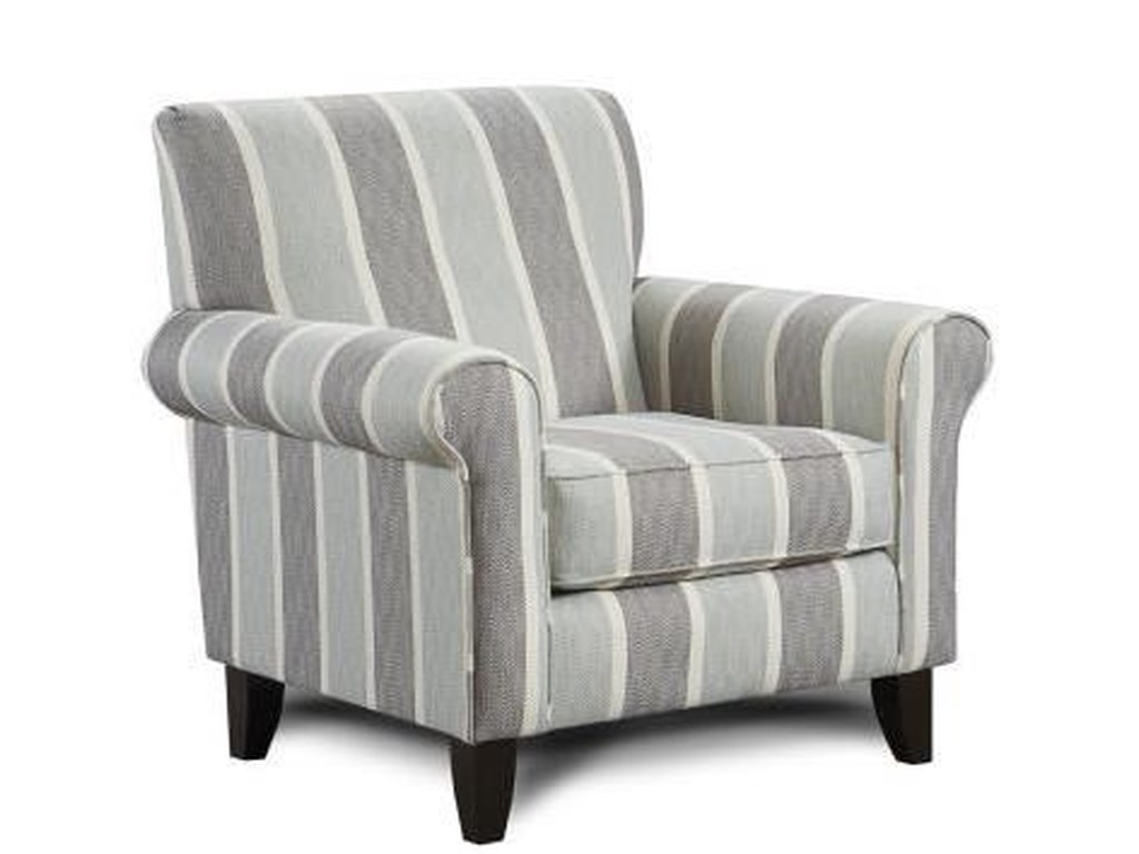 Fusion Furniture 502Mist Print Fabric Accent Chair