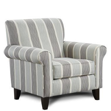 Fusion Furniture 502Mist Print Fabric Accent Chair ...