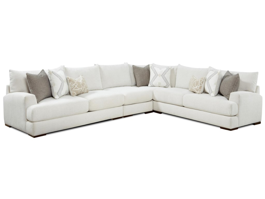 Fusion Furniture 51-004-Piece Sectional