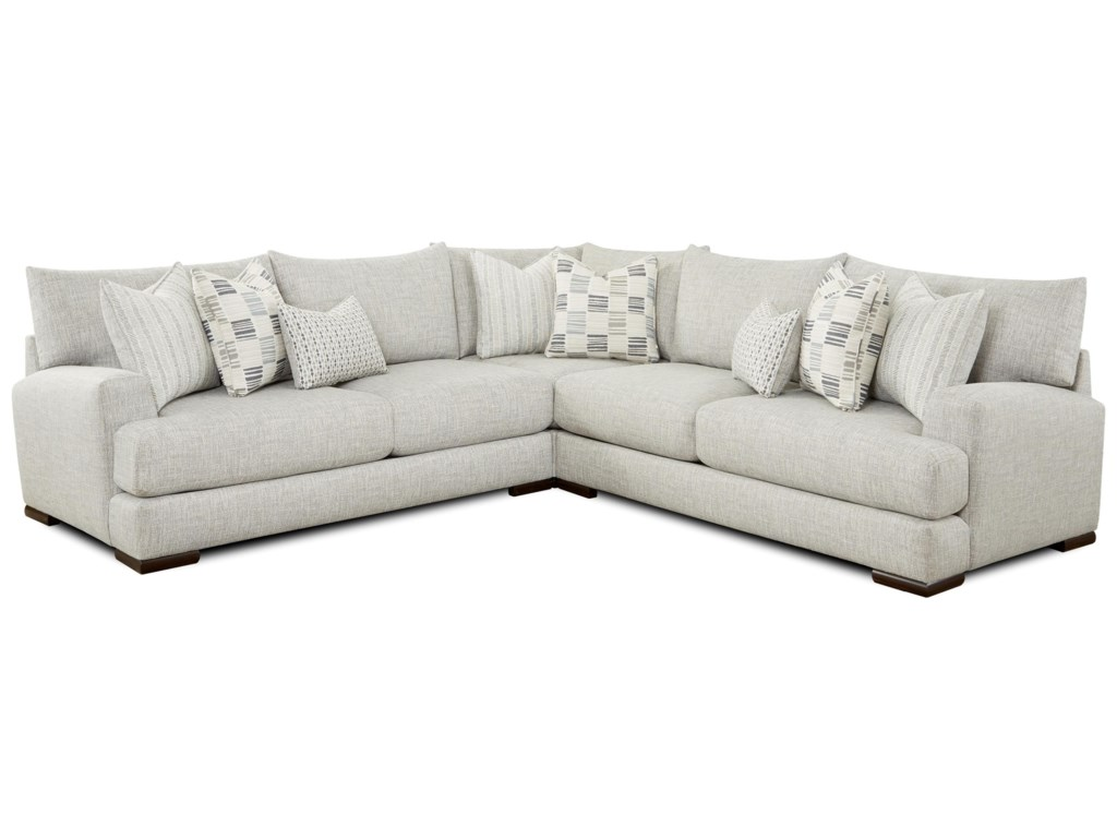 Fusion Furniture 51-003-Piece Sectional