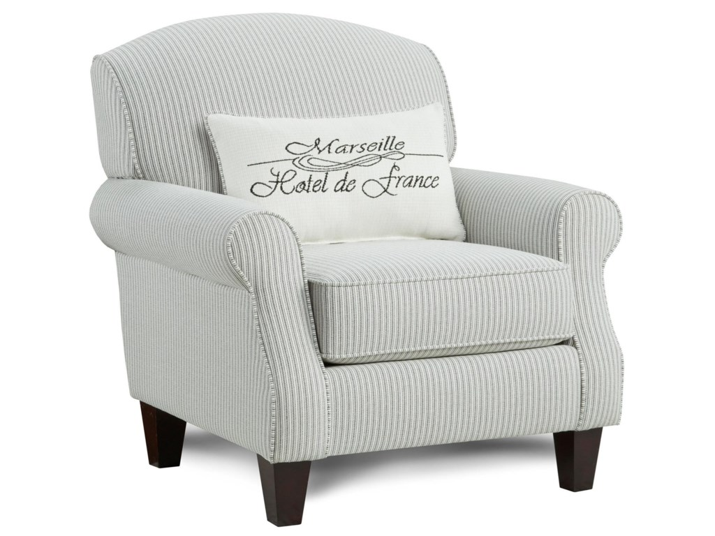 Fusion Furniture 532Accent Chair with Kidney Pillow