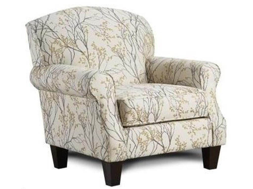 Fusion Furniture 532Marigold Accent Chair with Rolled Arms