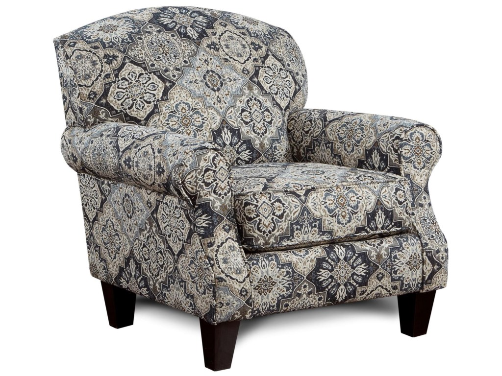 Fusion Furniture 532 Accent Chair with Rolled Arms | Royal Furniture ...