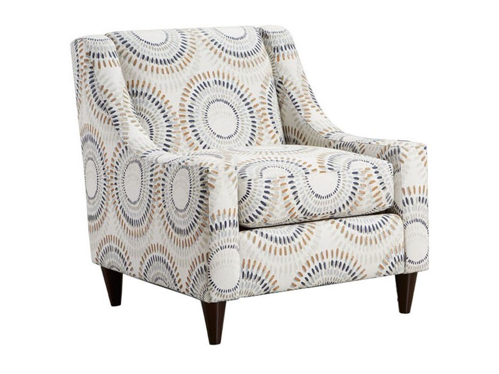Fusion Furniture 552Manifesto Accent Chair with Low Profile Arms