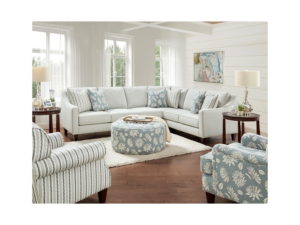 Fusion Furniture 59-002-Piece Sectional
