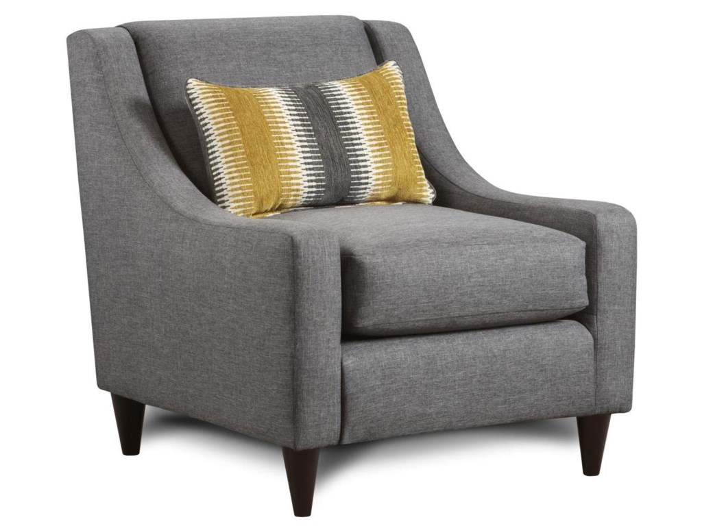 Fusion Furniture 592Accent Chair with Pillow