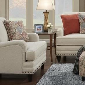 Fusion Furniture 5960 Transitional Chair with English Rolled Arms
