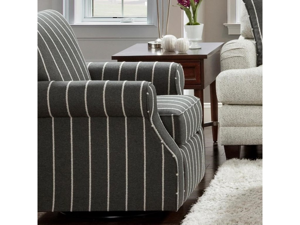 Fusion Furniture 602Swivel Accent Chair