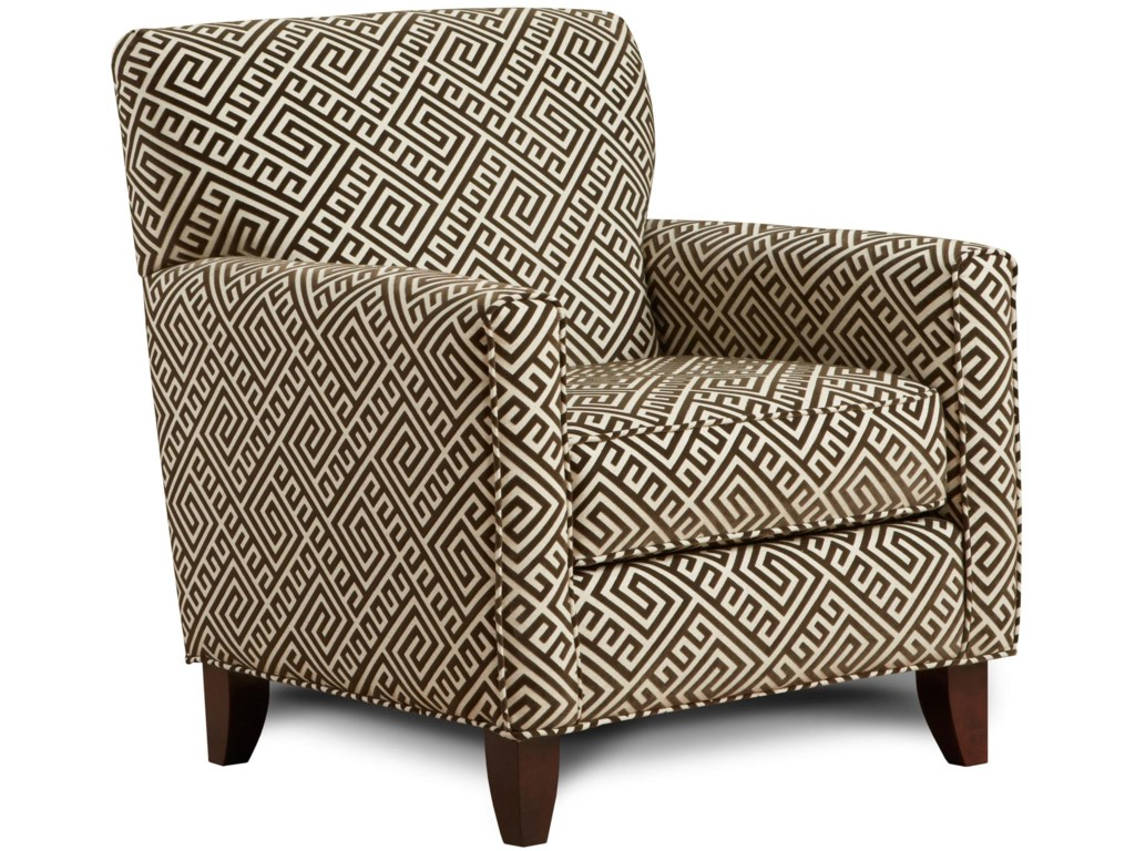 Fusion Furniture 702 - Thespian MochaAccent Chair