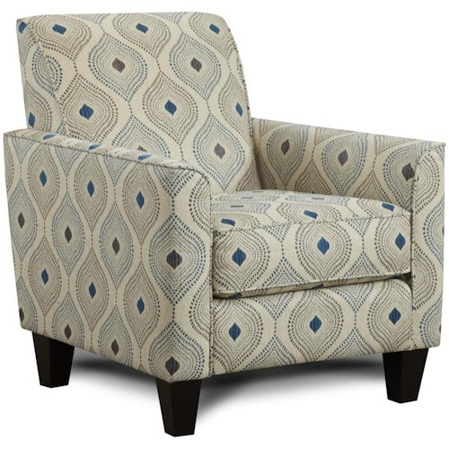 Fusion Furniture 722 Contemporary Accent Chair