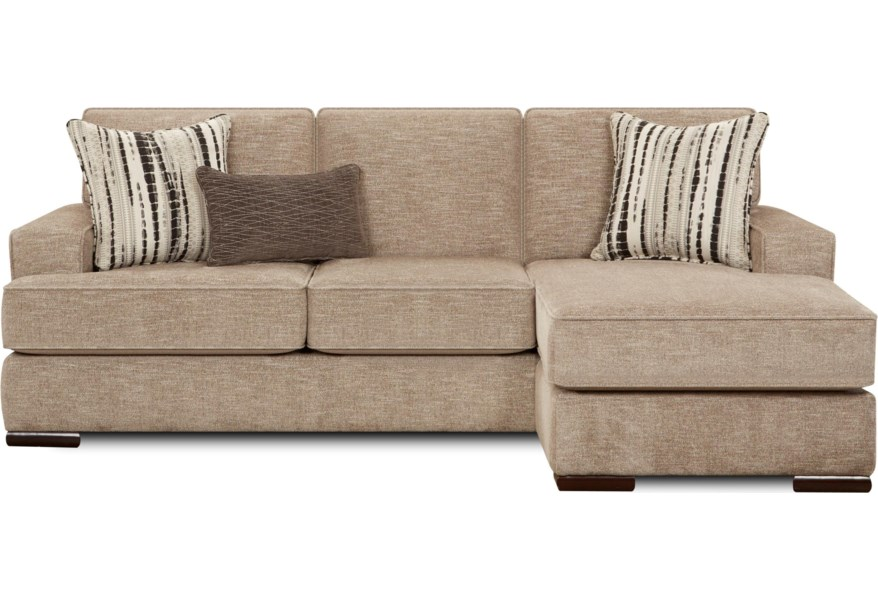 Contemporary Sofa With Chaise Lounge