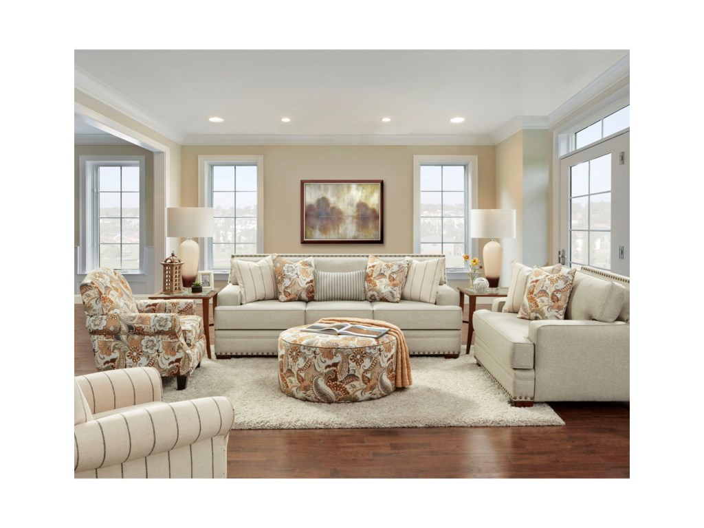 Fusion Furniture 8700Stationary Living Room Group