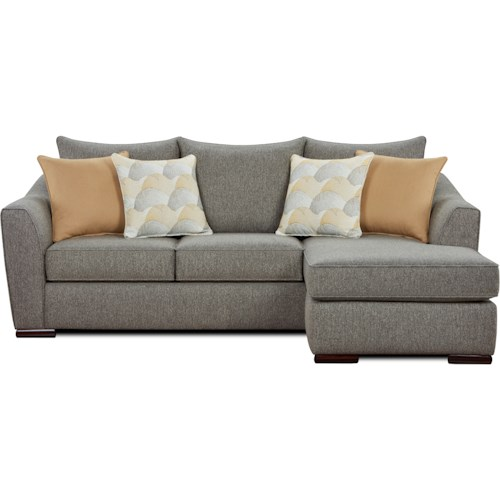 Fusion Furniture 9770 Contemporary Sofa Chaise with Configurable Chaise