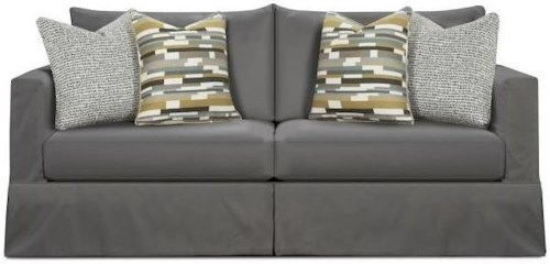 Fusion Furniture 9900 Contemporary Slip Cover Sofa