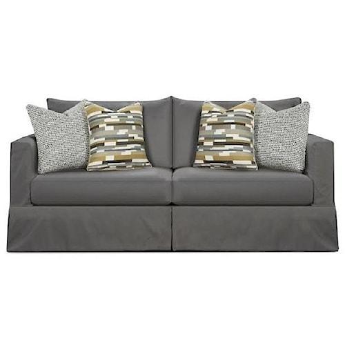 Fusion Furniture 9900 Contemporary Slip Cover Sofa in Performance Fabric