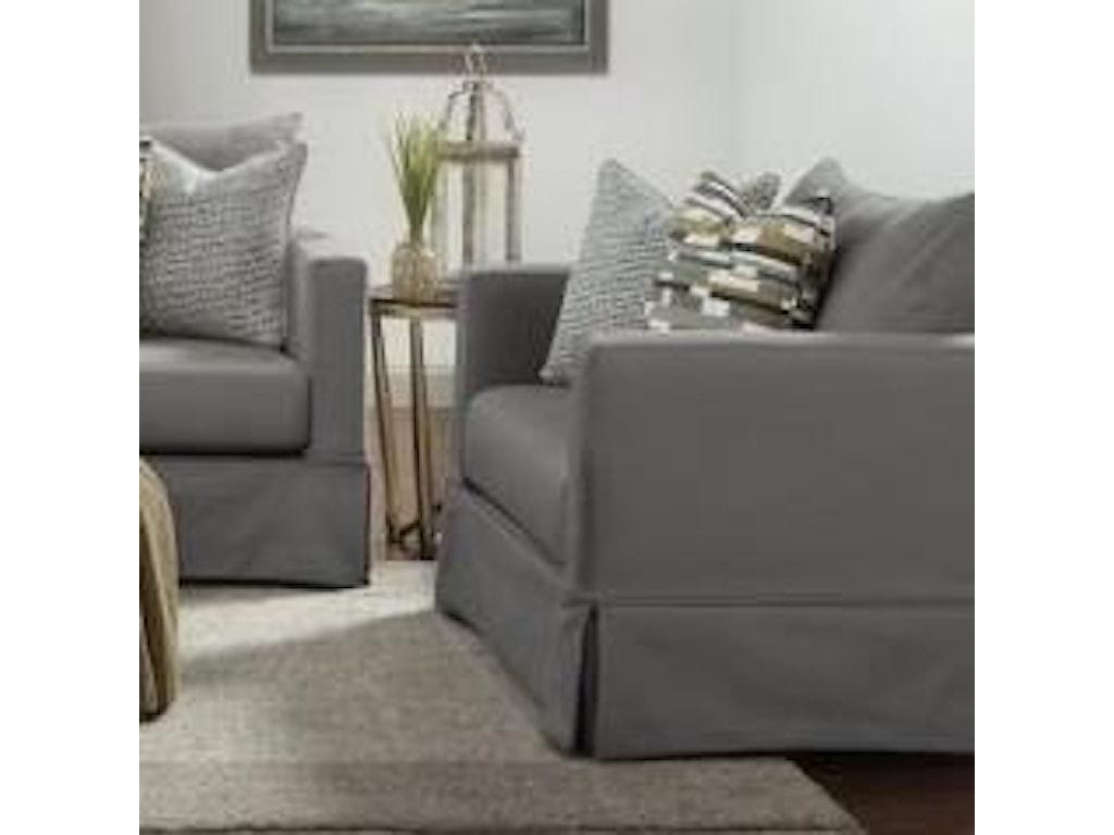 Haley Jordan 9900 9902sc Carbon Grande Linen Contemporary Slip Cover