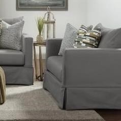 Fusion Furniture 9900 Contemporary Slip Cover Chair and a Half in Performance Fabric