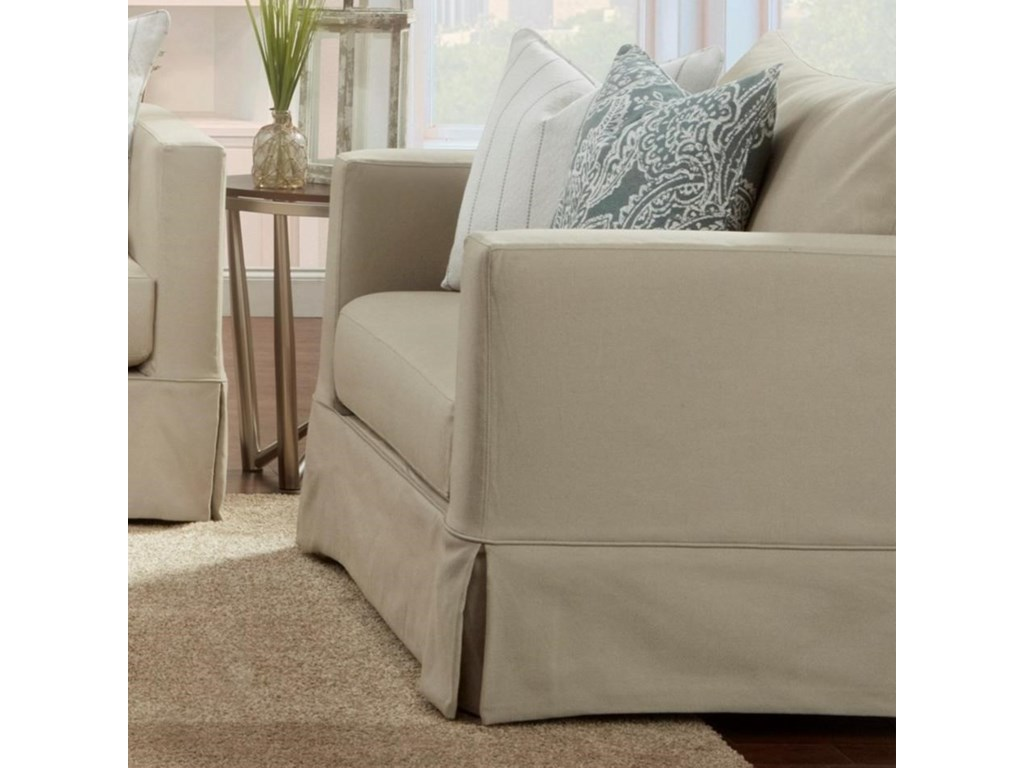 Fusion Furniture 9900 Contemporary Slip Cover Chair And A Half In