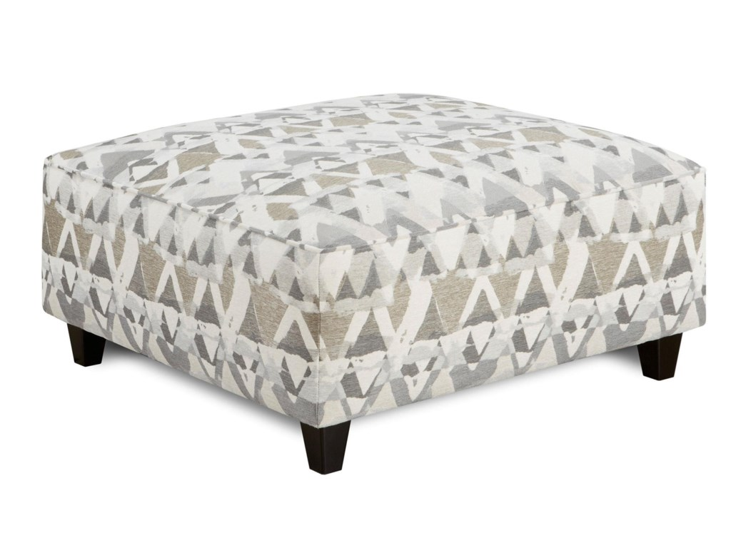 Fusion Furniture Alton SilverCocktail Ottoman