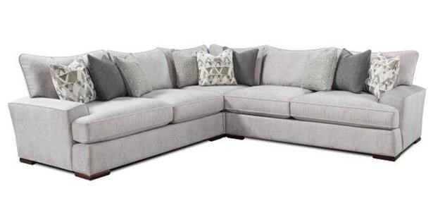 Fusion Furniture Alton SilverL Shaped Sectional ...