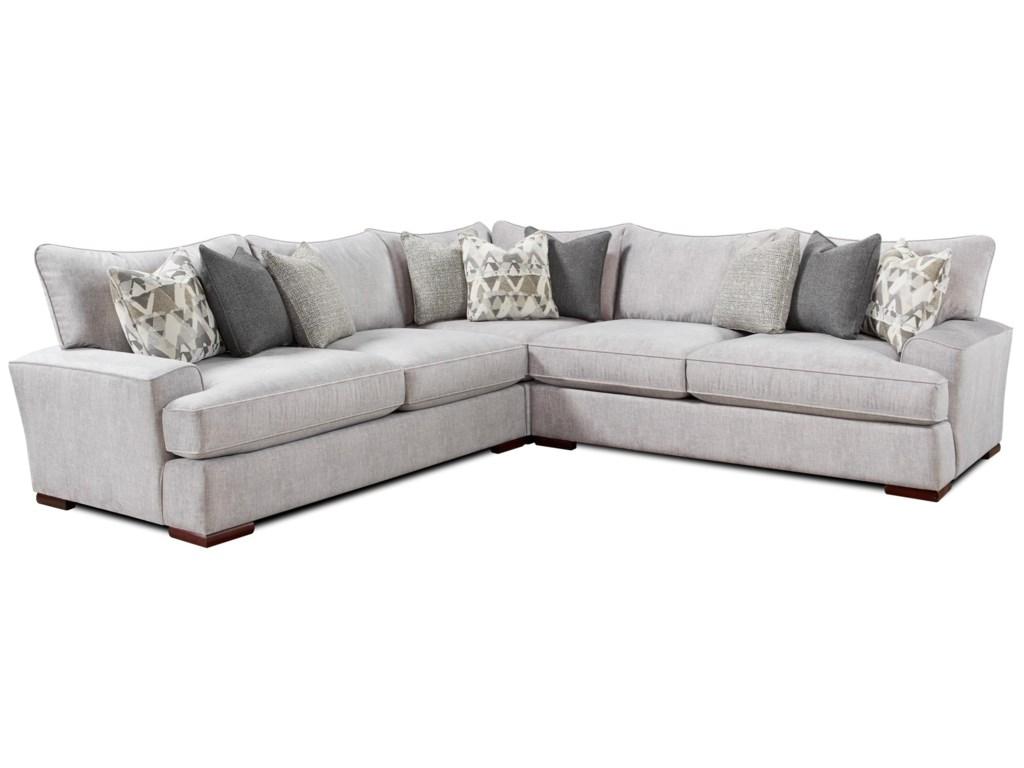 Alton Silver Contemporary L-Shaped Sectional by FN at Lindy\'s Furniture  Company