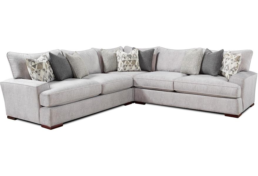 Fusion Furniture Alton Silver Contemporary L-Shaped ...