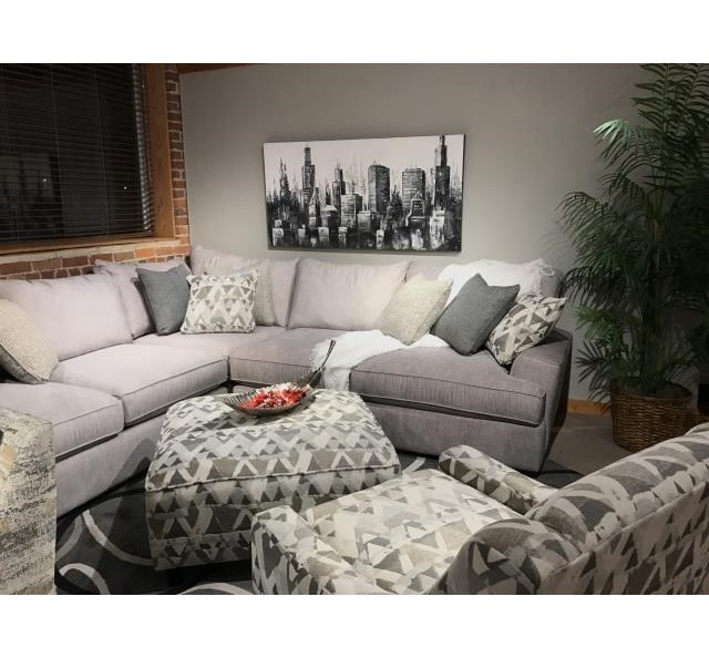 Fusion Furniture Silver MountainL-Shaped Sectional