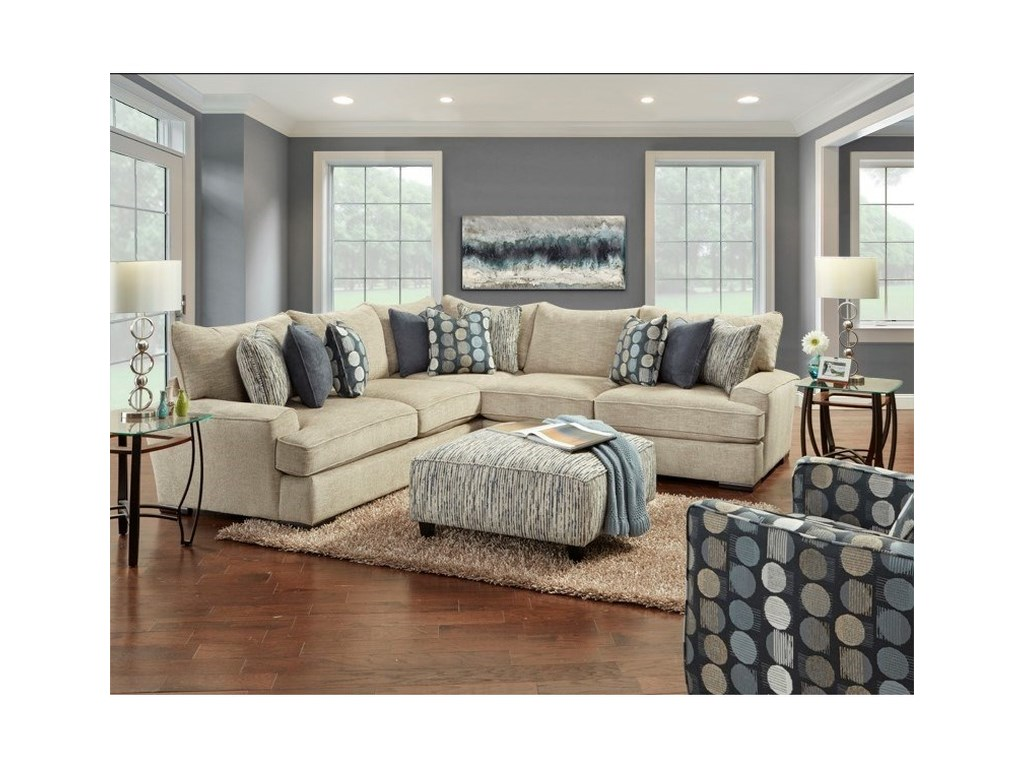 Fusion Furniture 2000L-Shaped Sectional