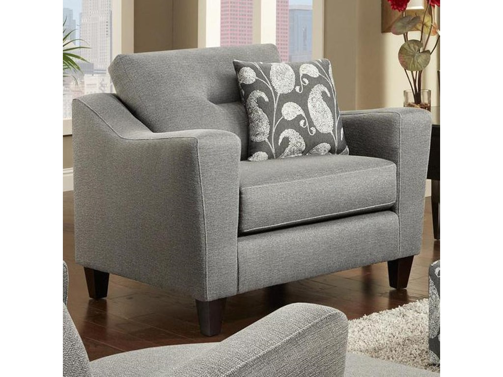 8100 Contemporary Chair with Track Arms by Fusion Furniture at Wayside  Furniture
