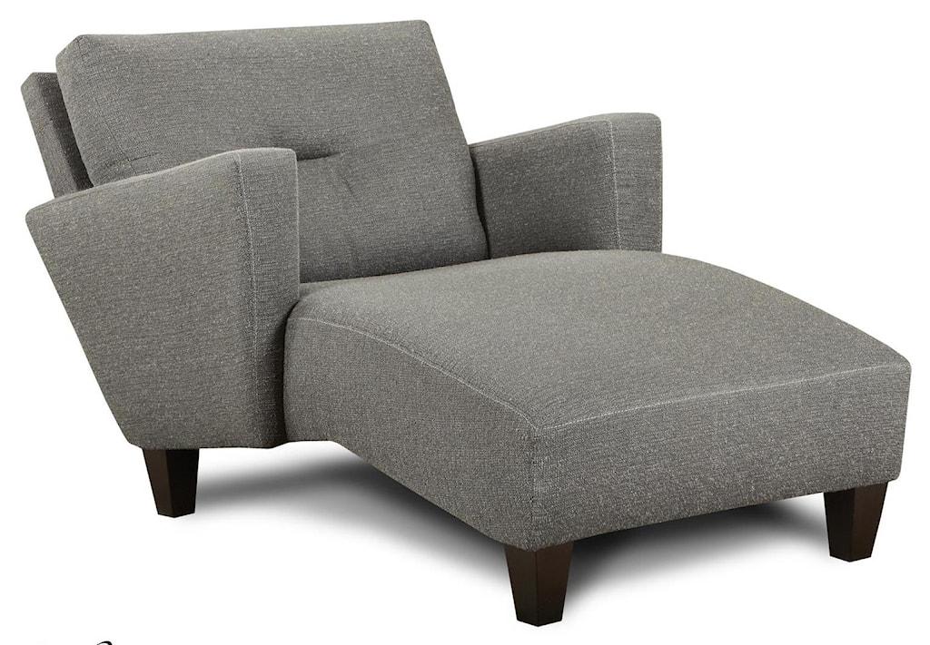 Fusion furniture 8100 contemporary chaise