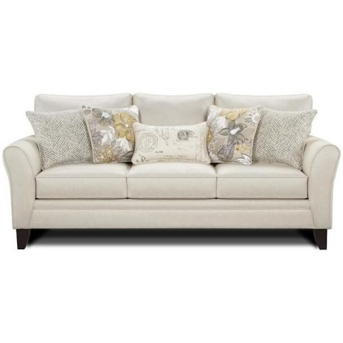 Fusion Furniture 4850 Sofa With Flared Arms And Loose Back Cushions