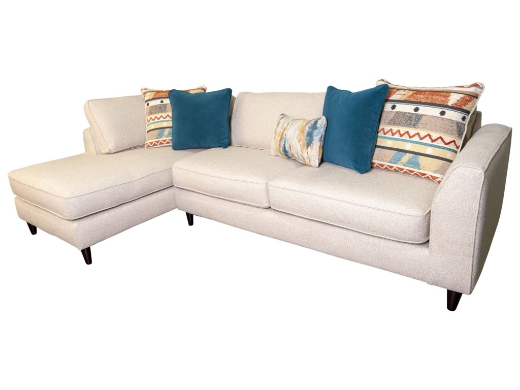 Fusion Furniture AysleeAyslee Sectional with Accent Pillows