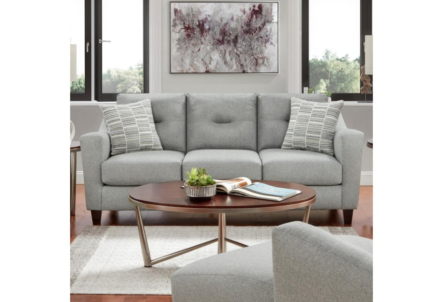 Fusion Furniture 8210 Contemporary Sofa | Furniture ...