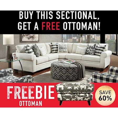 Heidi Sectional Sofa with Freebie!